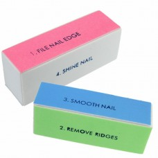 Шарен блок за естествени нокти, 4 страни