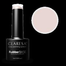 Claresa UV/LED Rubber Base 5ml, Каучукова Бяла База #5