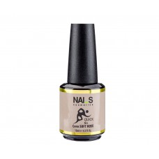 Nai_s Quick Gel UV/LED 15ml, камуфлажен бежов гел с леки частици 003