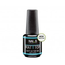 Nai_s Matt Top UV/LED 15ml, Топ лак МАТ