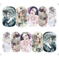 Коледни ваденки, жени с кожени яки