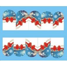 Коледни ваденки, червени панделки