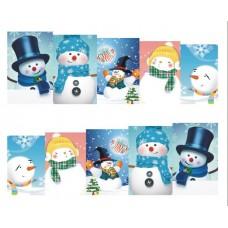 Коледни ваденки, снежен човек 9