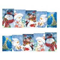 Коледни ваденки, снежен човек 4