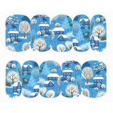 Коледни ваденки, къщички в снега
