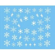 Коледни ваденки, бели снежинки