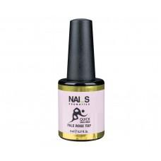 Nai_s Quick Pale Rose Top UV/LED 8ml, розов топ без лепкав слой