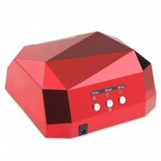 36W UV LED лампа, червен диамант