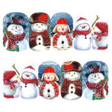 Коледни ваденки, снежен човек 6