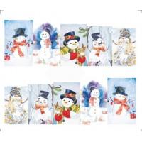 Коледни ваденки, снежен човек 14