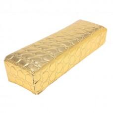 Възглавничка за маникюр, квадратна златна на сърца