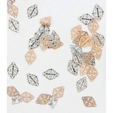 Двулицеви листа със златна и сребърна страна, 10 броя