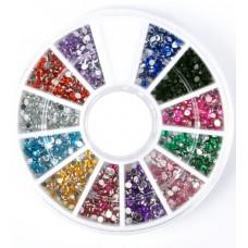 Камъчета кръгли 12 цвята в кутийка, 250 бр.