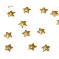 Камъчета тип капси златни звезди, 10 броя