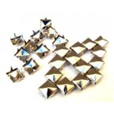 Камъчета тип капси златни квадрати, 10 броя