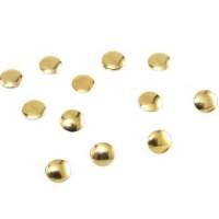 Камъчета тип капси големи златни кръгчета, 10 броя
