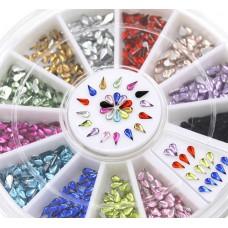 Камъчета капка в кутийка, 12 цвята