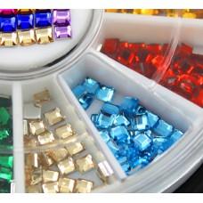 Камъчета квадратни в кутийка, 12 цвята