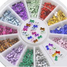 Камъчета панделки в кутийка, 12 цвята