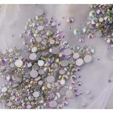 Камъчета микс размери кристални холограмни, 1400 бр. в пакет