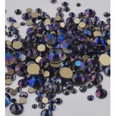 Камъчета микс размери кристални тъмно-син, 1400 бр. в пакет