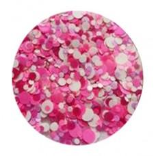 Конфети, бяло-розов микс