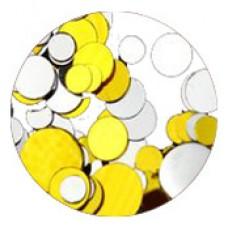 Конфети, златно-сребърен микс