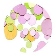 Конфети, зелено-розов микс