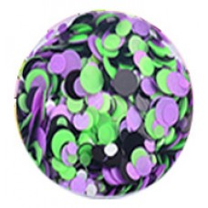 Конфети, лилаво-зелено-черен неонов микс