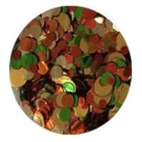 Конфети, златно-червено-зелен микс
