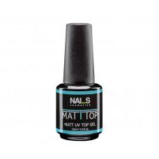 Nai_s Matt Top UV/LED 15ml, матов топ гел лак