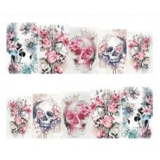 Ваденки, черепи с цветя