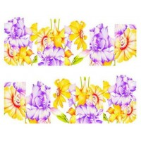 """Ваденки """"Жълто-лилави цветя"""""""