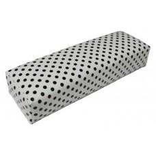 Възглавничка за маникюр, бяла кожена на точки