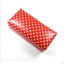 Възглавничка за маникюр, червена с бели точки