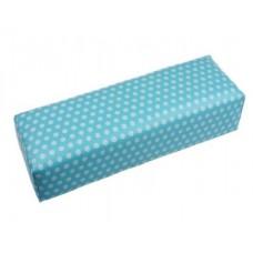 Възглавничка за маникюр, синя кожена на точки