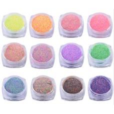 Комплект 12 бр. захар за нокти в кутия, серия микс